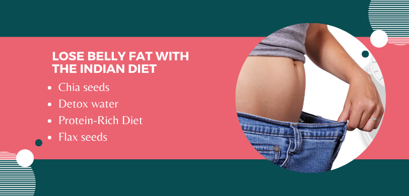 lose belly fat with the Indian diet